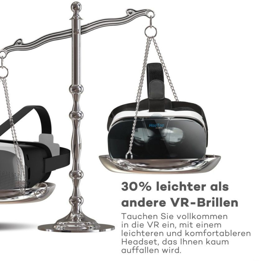 HooToo 3D VR Box leichter als andere