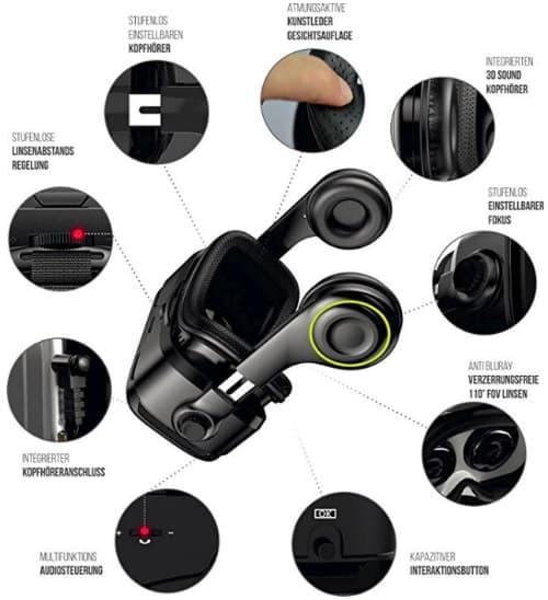 VR Brille VR-SHARK X4